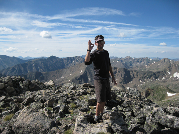 The summit of 13,845 ft. Mount Oklahoma in the Sawatch Range, Colorado.