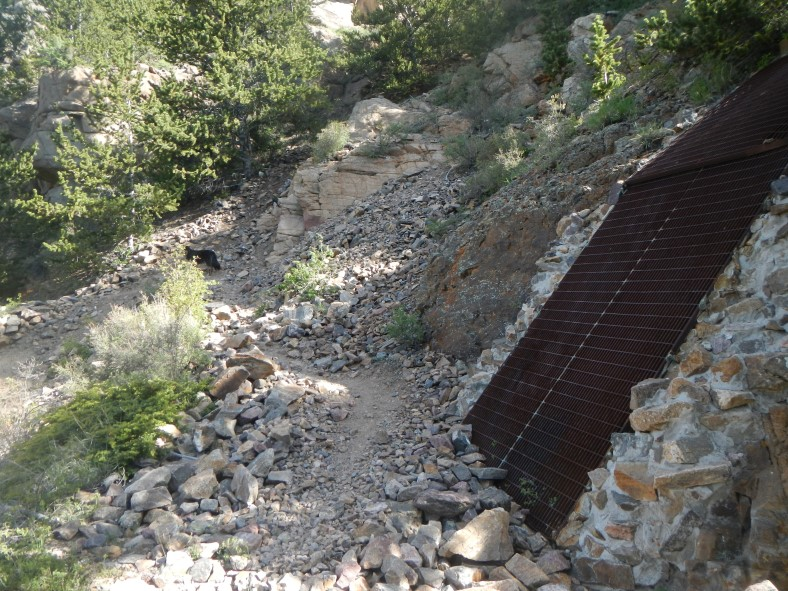 Most of the mine ruins are safely closed up with large grates.