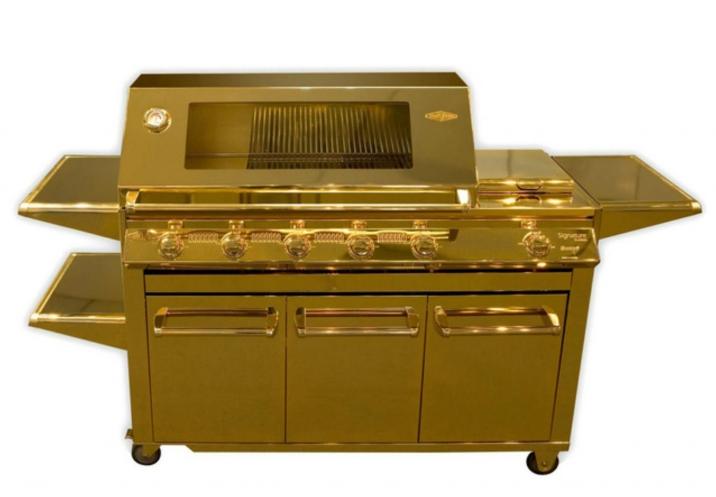 Behold, a grill of gold!