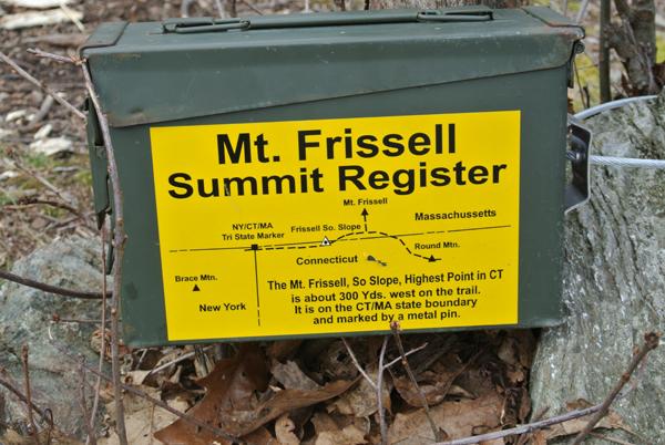 Mount Frissell summit register