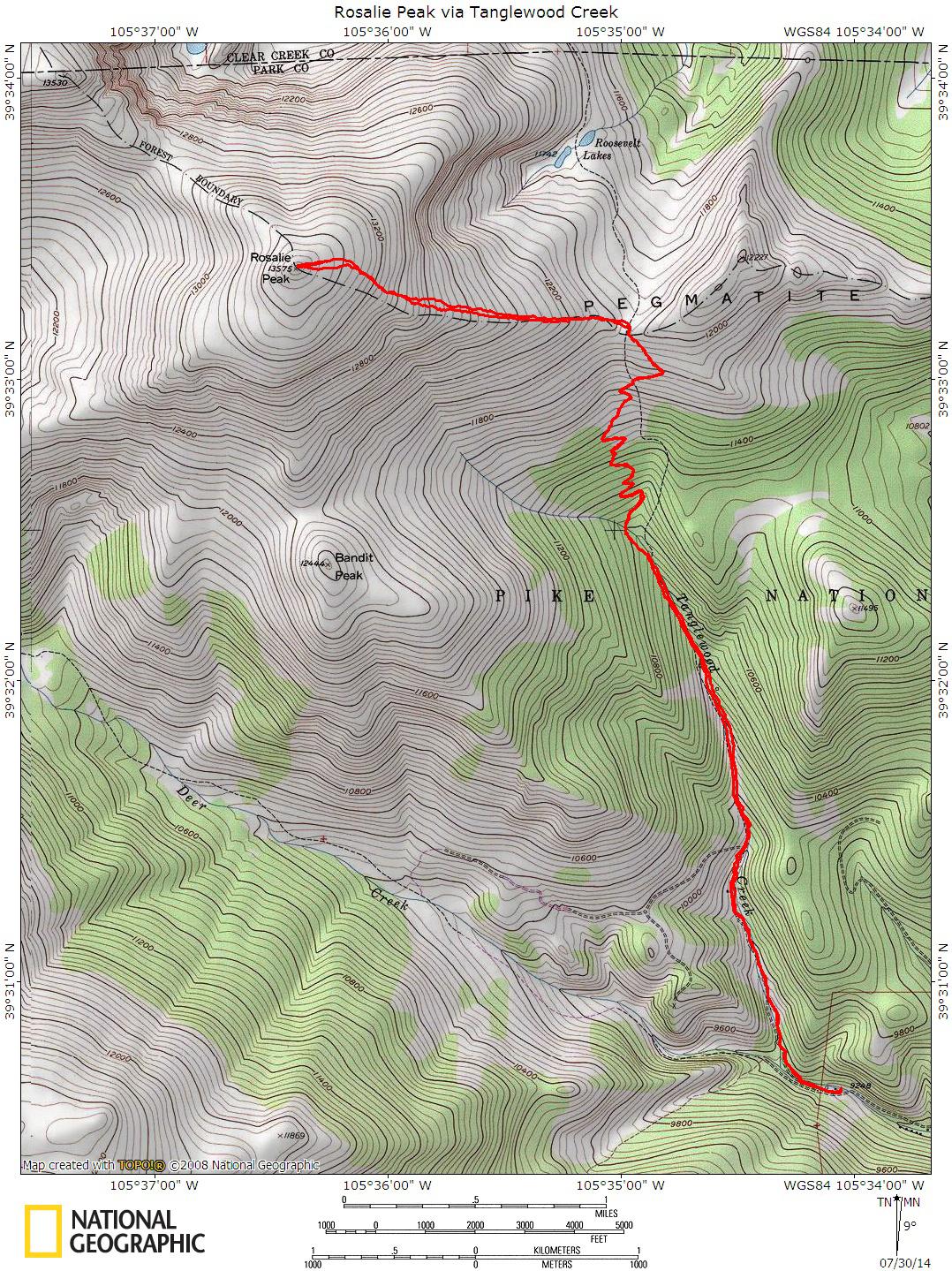 Rosalie Peak via Tanglewood Creek - Mountain Air